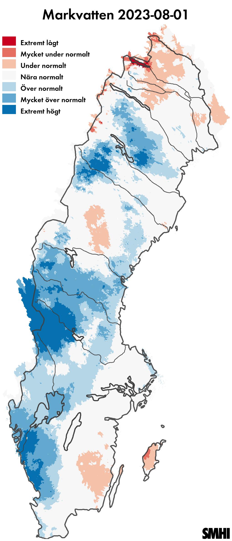 Markvattenkarta prognosdag 0